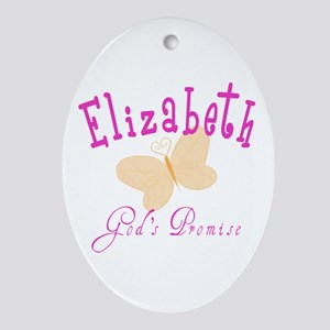 Elizabeth Oval Ornament
