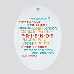 Friends TV Show Ornament (Oval)