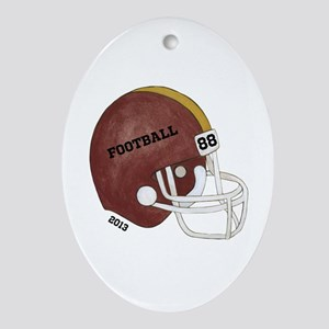 Football Helmet Ornament (Oval)