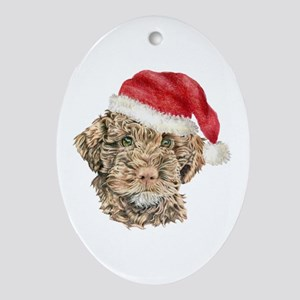 Christmas Lagotto Romagnolo Oval Ornament