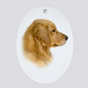 Golden Retriever Portrait Oval Ornament