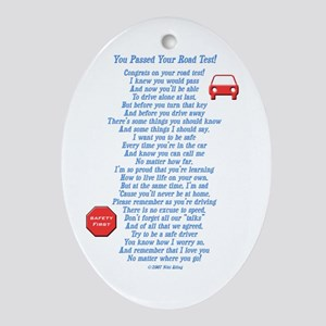 You Passed Road Test Ornament (Oval)