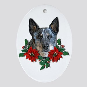 Blue Heeler Christmas Ornament (Oval)