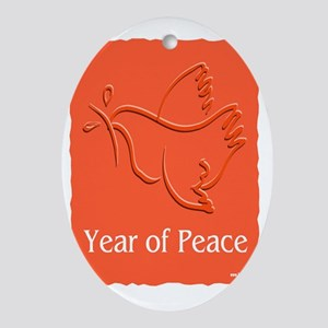 Year Of Peace Oval Ornament