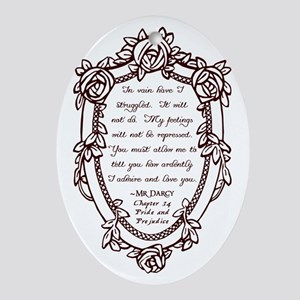 Mr Darcys Proposal Ornament (Oval)