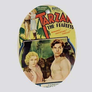 Tarzan the Fearless Oval Ornament