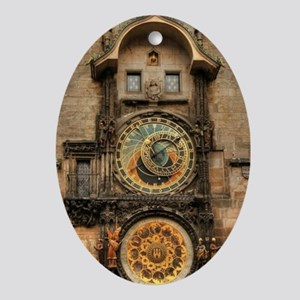 Astronomical Clock Oval Ornament
