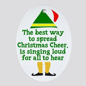 Christmas Cheer Oval Ornament
