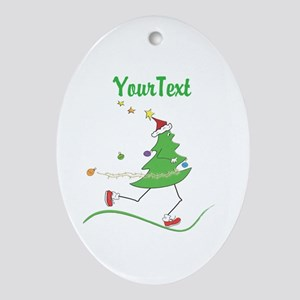 Customize Christmas Tree Runner Oval Ornament