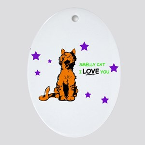 friends smelly cat Oval Ornament