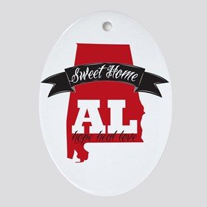 Sweet Home-2 Oval Ornament