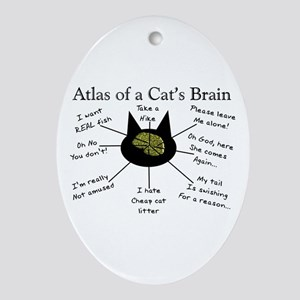 Atlas of a Cats Brain Oval Ornament
