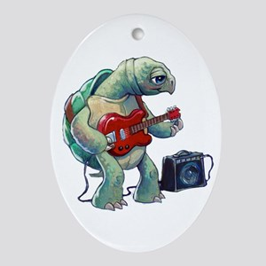 Turtle Tuning Guitar Oval Ornament