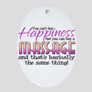 HAPPINESS Oval Ornament