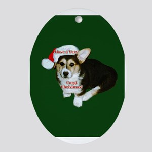 Very Corgi Christmas- Gimli Oval Ornament