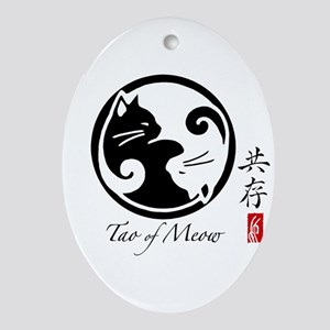 yin-yang-cats Oval Ornament