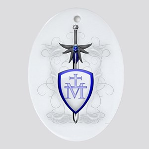 St. Michaels Sword Oval Ornament