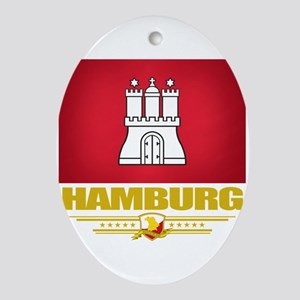 Hamburg (Flag 10) Oval Ornament