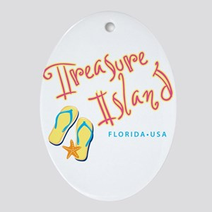 Treasure Island Florida Oval Ornament