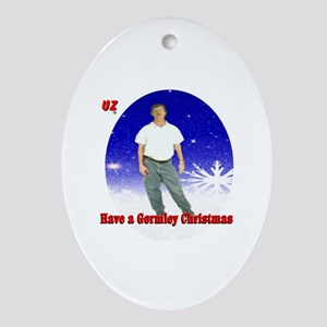 A Mark Gormley Christmas Oval Ornament