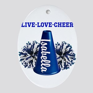 cheerleader personalize Oval Ornament