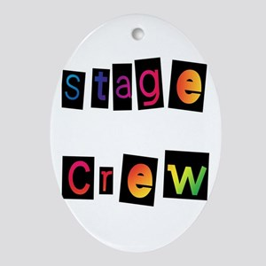 Stage Crew Oval Ornament
