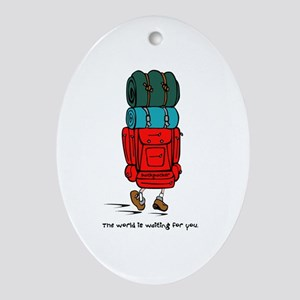 Backpacker Oval Ornament