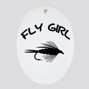 FLY GIRL Oval Ornament