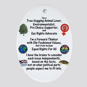 independent_thinker_2d_trans Oval Ornament