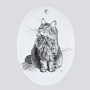 mitty-4in Oval Ornament