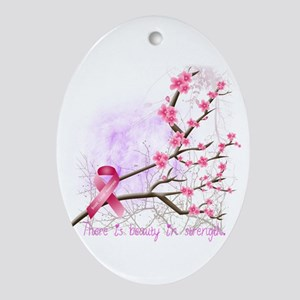 cherryblossom-dark Oval Ornament