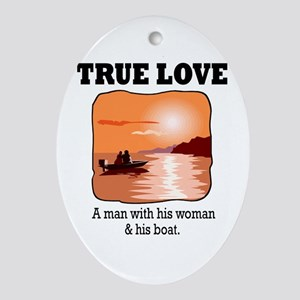 true love.png Oval Ornament