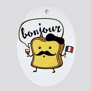 French Toast Oval Ornament