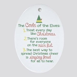 The Code of the Elves Ornament (Oval)