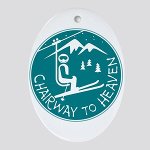 Chairway to Heaven Oval Ornament