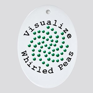 Visualize Whirled Peas 2 Ornament (Oval)