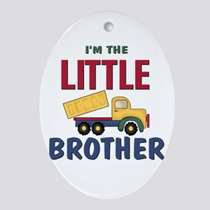 Little Brother Dump Truck Oval Ornament