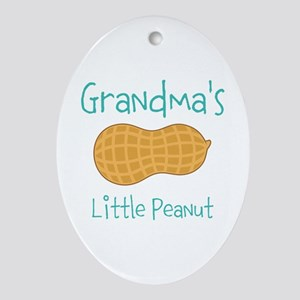 Personalized Little Peanut Ornament (Oval)