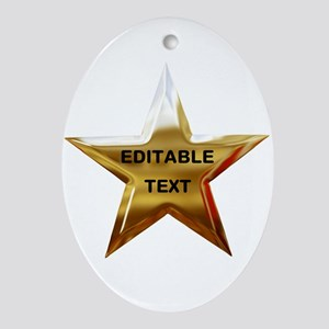 Superstar Ornament (Oval)