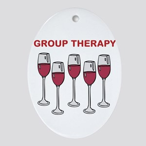 GROUP THERAPY Oval Ornament