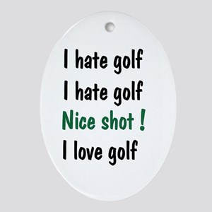 Z-IHate golf Oval Ornament