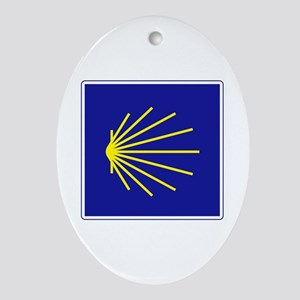 Camino de Santiago, Spain Ornament (Oval)