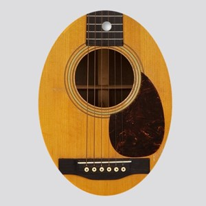 Acoustic Guitar Oval Ornament