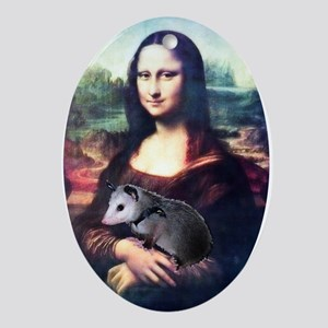 Mona Lisa Possum Oval Ornament