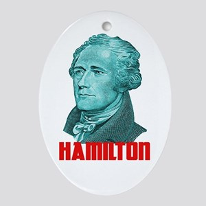 Alexander Hamilton in Green Oval Ornament