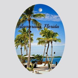 Islamorada, Florida - Day at the Bea Oval Ornament