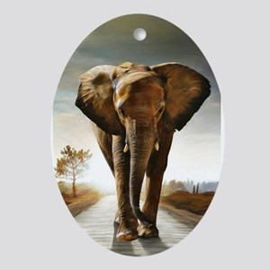 The Elephant Ornament (Oval)