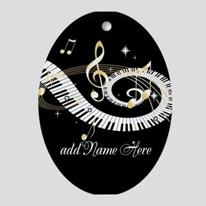 Personalized Piano Musical gi Ornament (Oval)