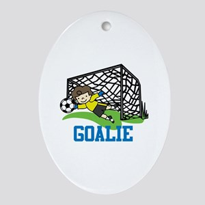 Goalie Ornament (Oval)