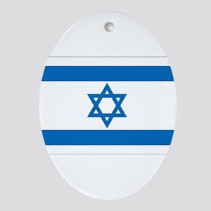 Israel Flag Ornament (Oval)